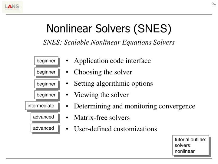 Nonlinear Solvers (