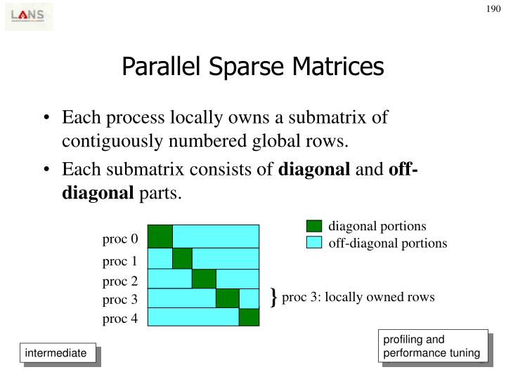Parallel Sparse Matrices