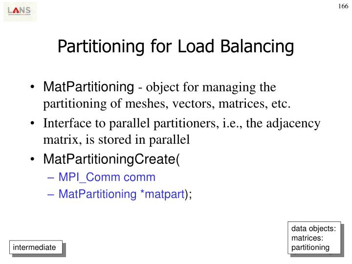 Partitioning for Load Balancing