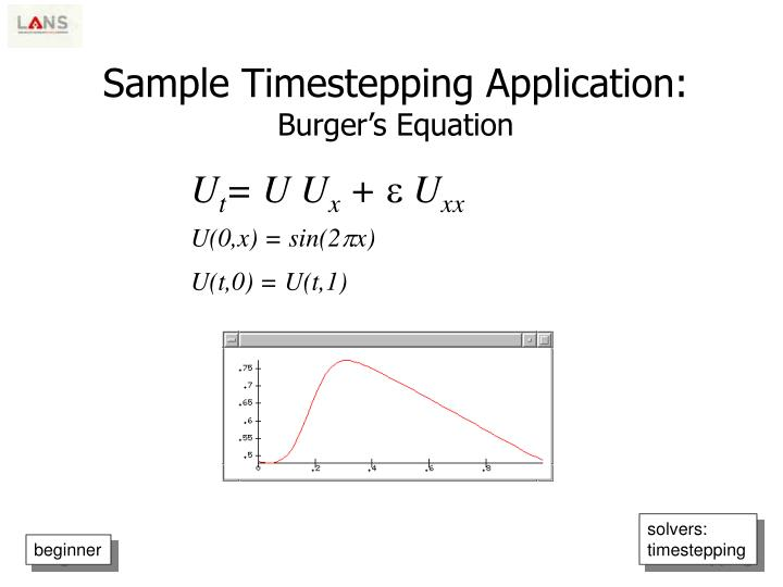 Sample Timestepping Application: