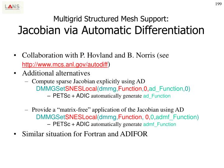 Multigrid Structured Mesh Support: