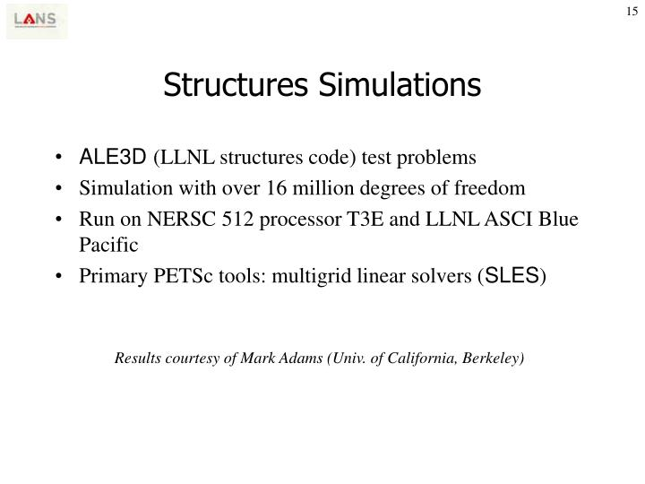 Structures Simulations