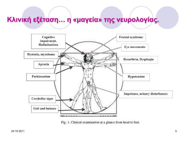 Κλινική εξέταση… η «μαγεία» της νευρολογίας.
