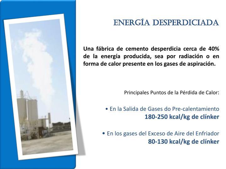 Energía desperdiciada