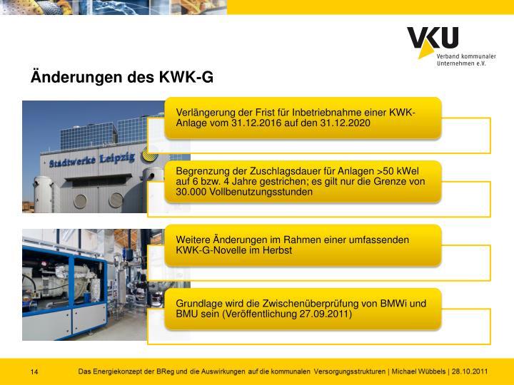 Änderungen des KWK-G