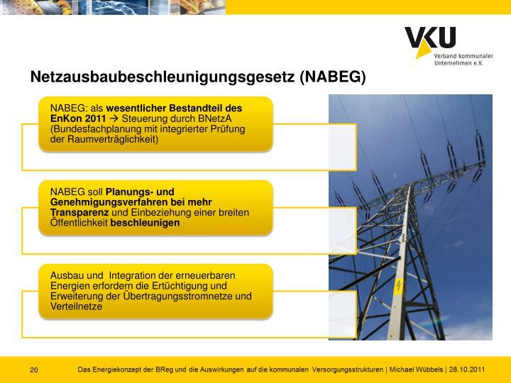Netzausbaubeschleunigungsgesetz (NABEG)