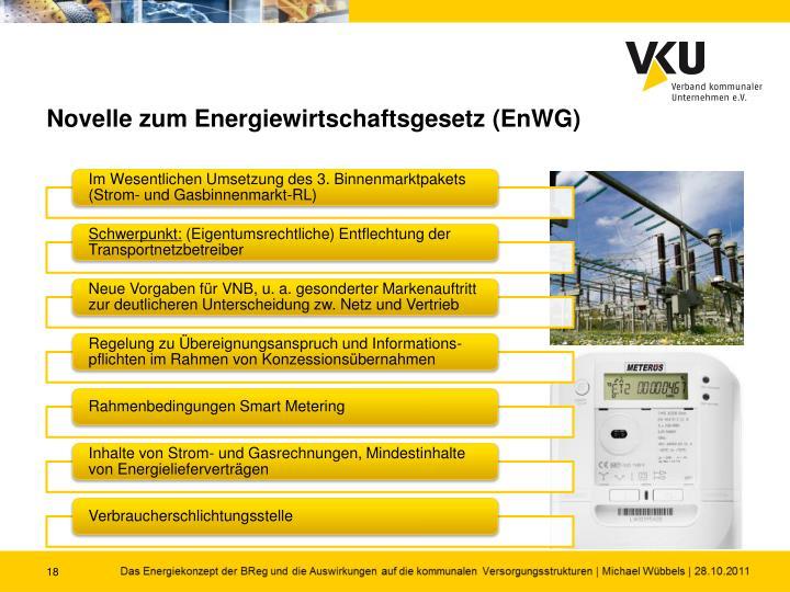 Novelle zum Energiewirtschaftsgesetz (EnWG)