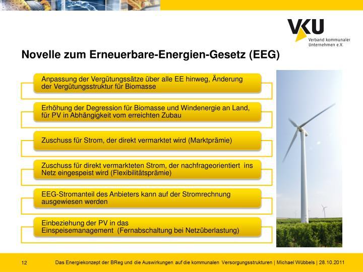 Novelle zum Erneuerbare-Energien-Gesetz (EEG)