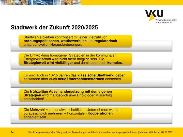 Stadtwerk der Zukunft 2020/2025