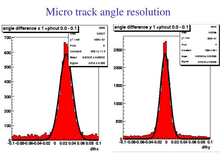 Micro track angle resolution