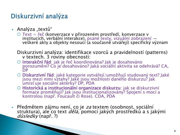 Diskurzivní analýza