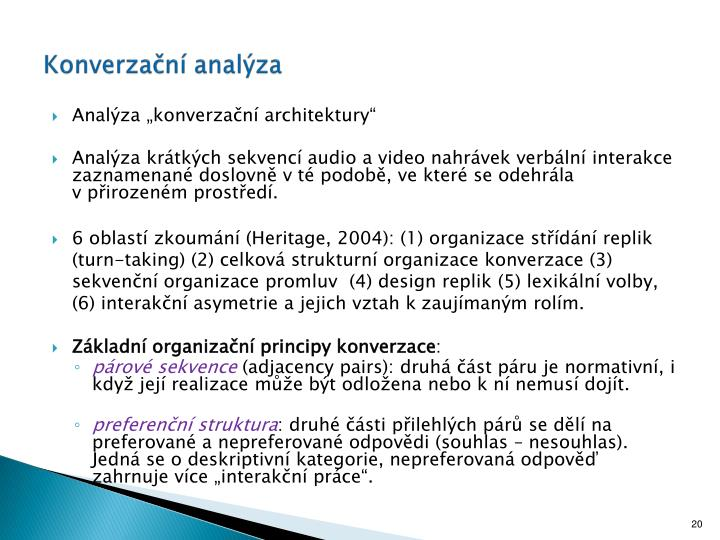 Konverzační analýza