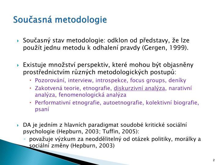 Současná metodologie