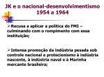 jk e o nacional desenvolvimentismo 1954 a 1964