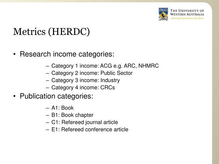 Metrics (HERDC)