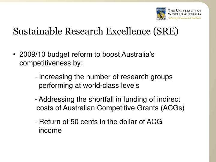 Sustainable Research Excellence (SRE)