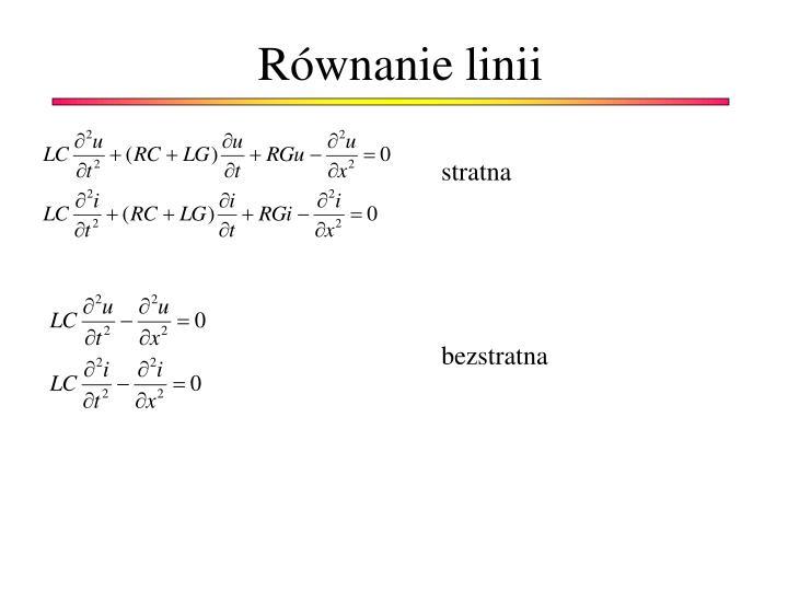 Równanie linii