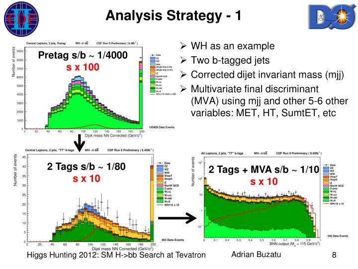 Analysis Strategy - 1