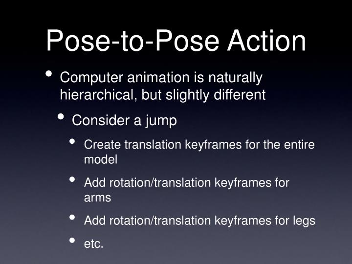Pose-to-Pose Action