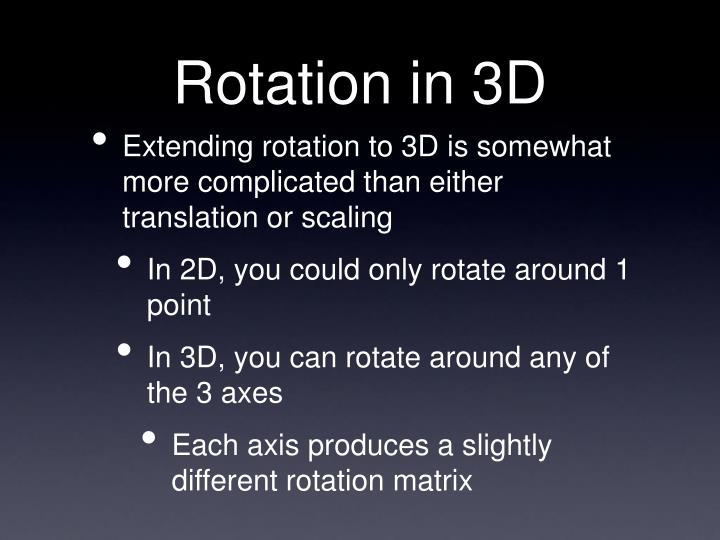 Rotation in 3D