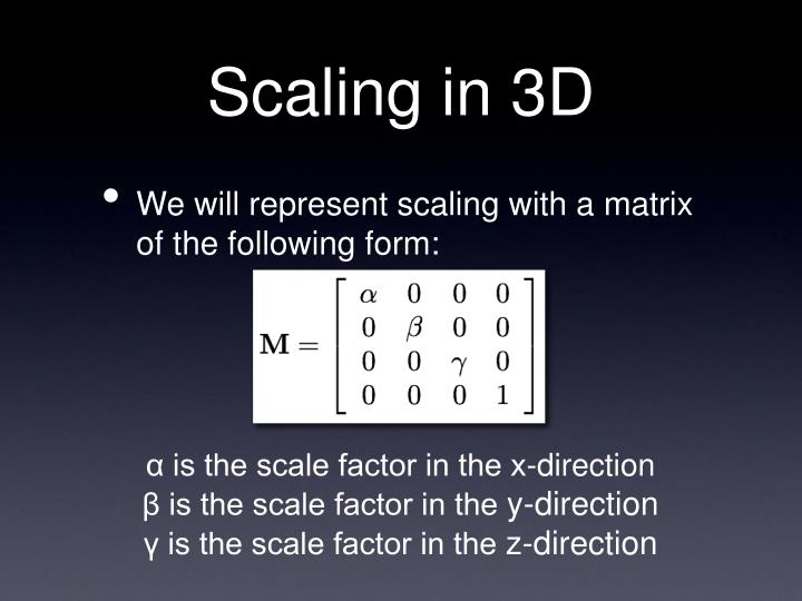 Scaling in 3D
