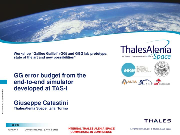 "Workshop ""Galileo Galilei"" (GG) and GGG lab prototype: state of the art and new possibilities"""