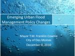 emerging urban flood management policy changes