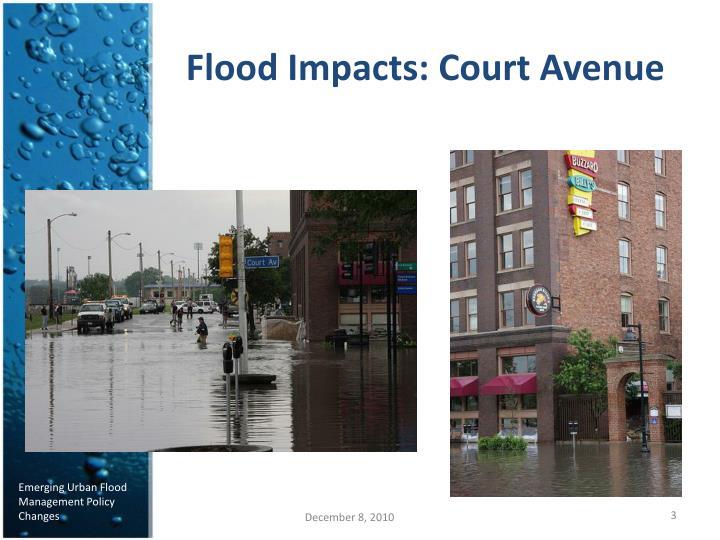 Flood Impacts: Court Avenue