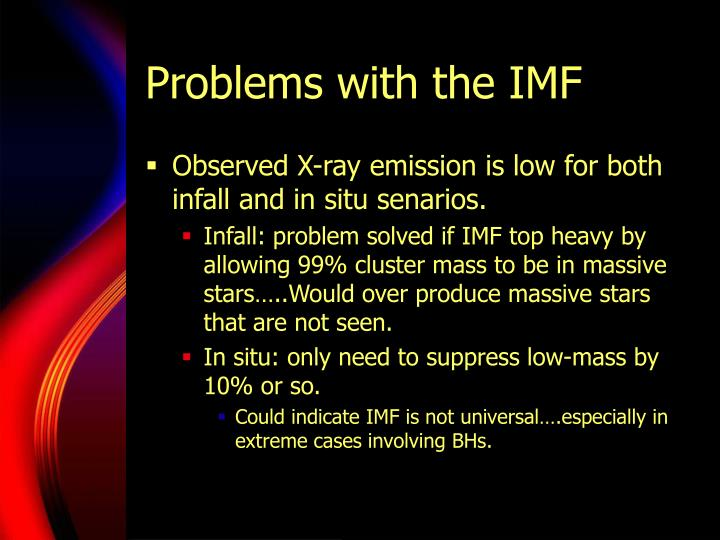 Problems with the IMF