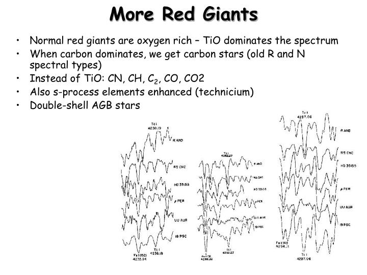 More Red Giants