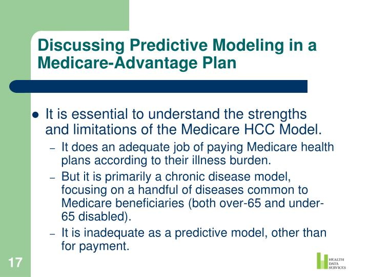 Discussing Predictive Modeling in a Medicare-Advantage Plan