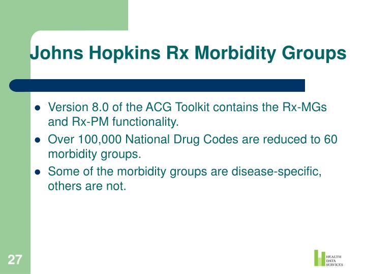 Johns Hopkins Rx Morbidity Groups