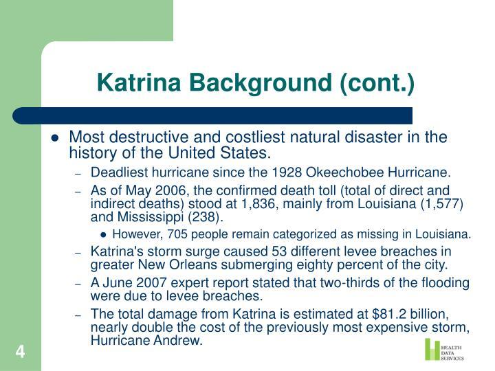 Katrina Background (cont.)