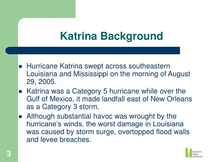 Katrina Background