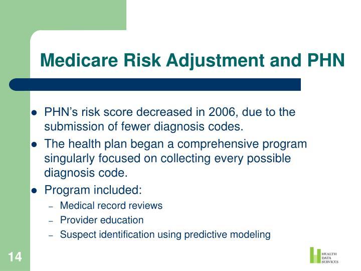 Medicare Risk Adjustment and PHN