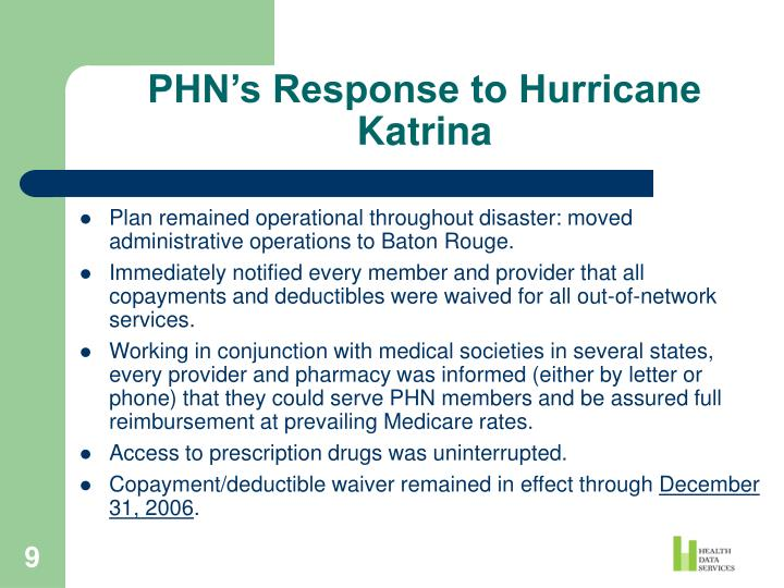 PHN's Response to Hurricane Katrina