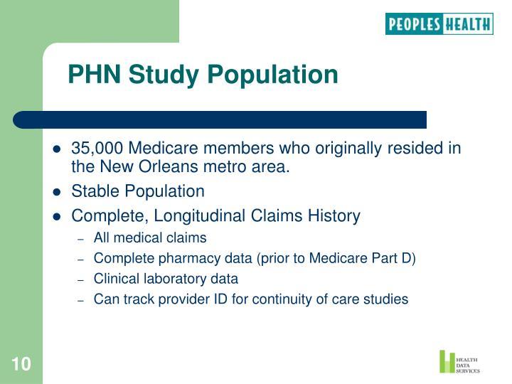 PHN Study Population