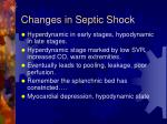 changes in septic shock