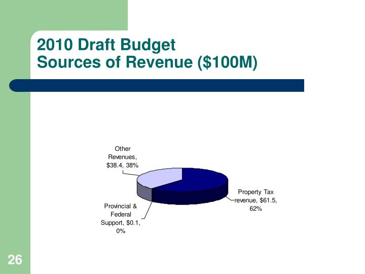 2010 Draft Budget