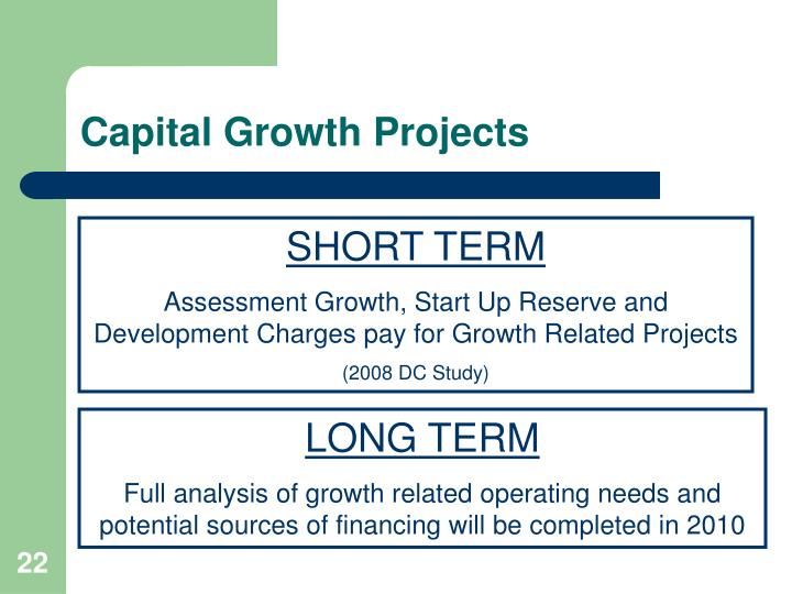 Capital Growth Projects