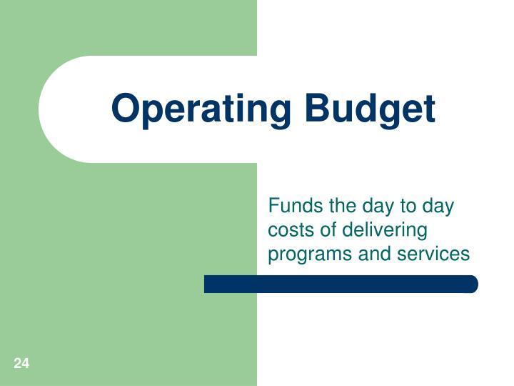 Operating Budget