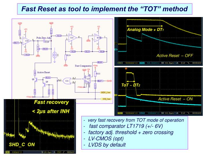 """Fast Reset as tool to implement the """"TOT"""" method"""
