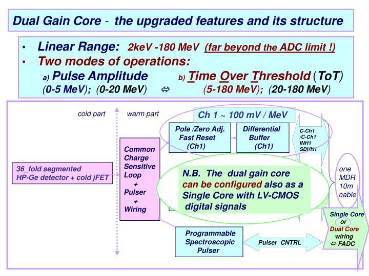 Dual Gain Core