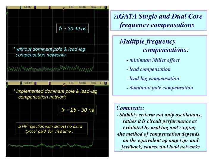 AGATA Single and Dual Core