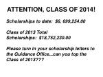 attention class of 2014