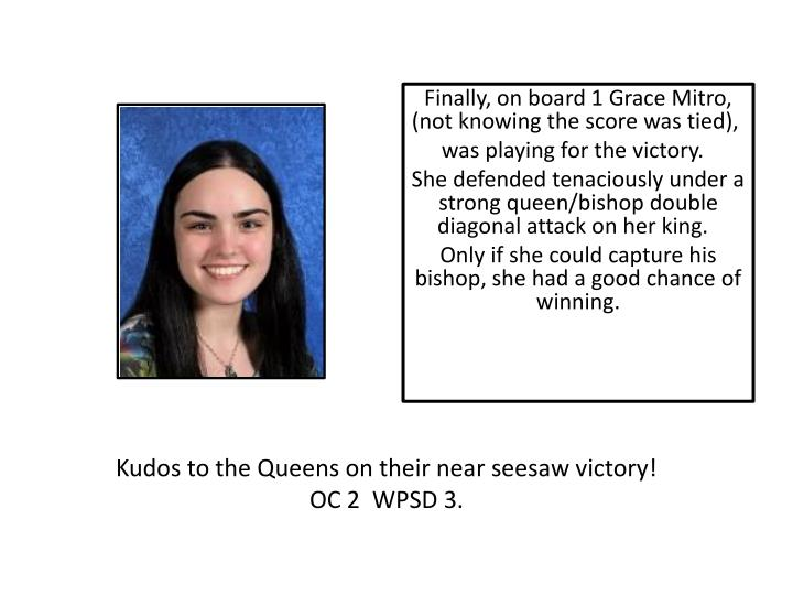 Kudos to the Queens on their near seesaw victory!