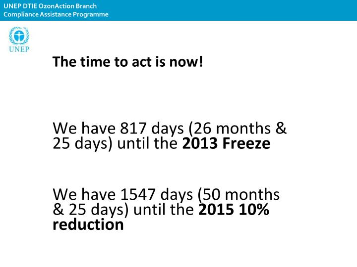 The time to act is now!