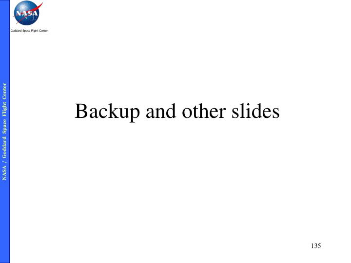 Backup and other slides
