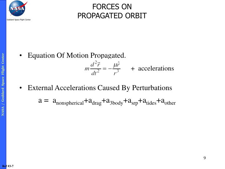 Equation Of Motion Propagated.