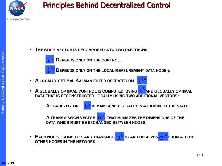 Principles Behind Decentralized Control